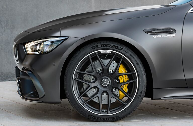 Closeup of wheel on 2019 Mercedes-AMG® GT Coupe