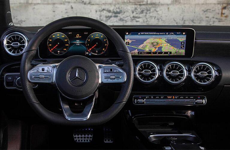 Front dash of 2020 Mercedes-Benz A-Class