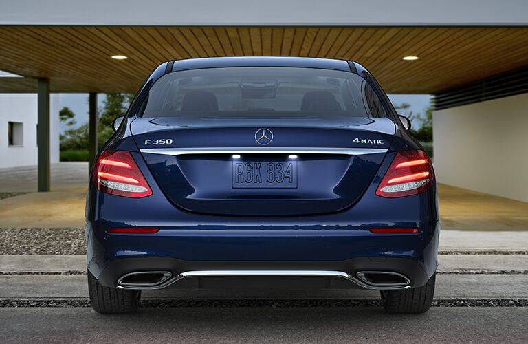 Blue 2020 Mercedes-Benz E-Class Rear Exterior