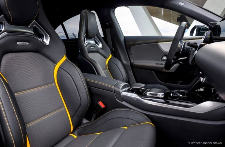 Front seating in 2020 Mercedes-AMG® CLA 45 European model