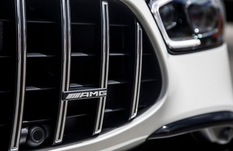 Closeup of grille on 2020 Mercedes-AMG® GT 4-Door Coupe