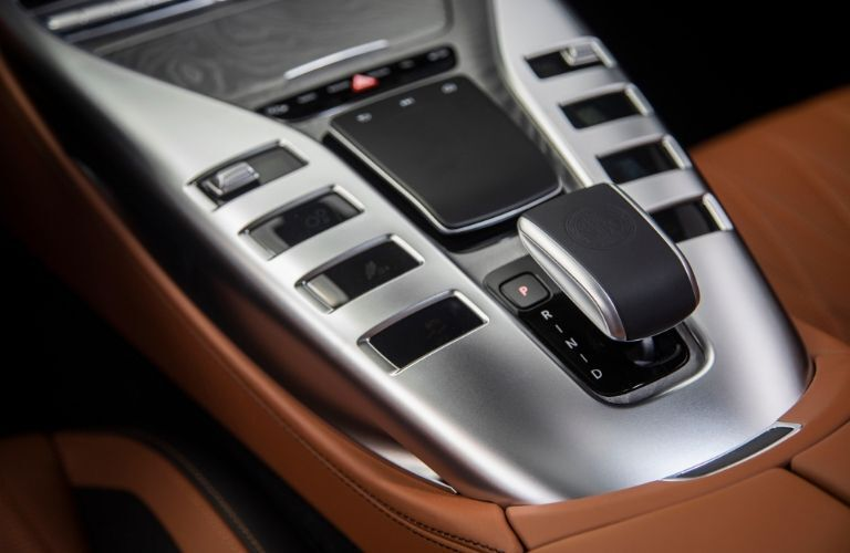 Center console in 2020 Mercedes-AMG® GT 4-Door Coupe