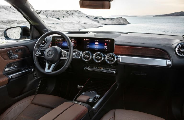 Interior view of 2020 Mercedes-Benz GLB