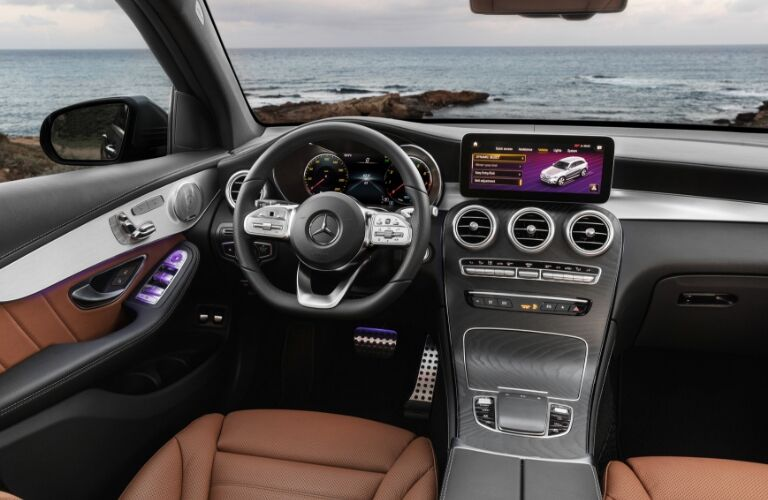 Interior view of 2020 Mercedes-Benz GLC SUV