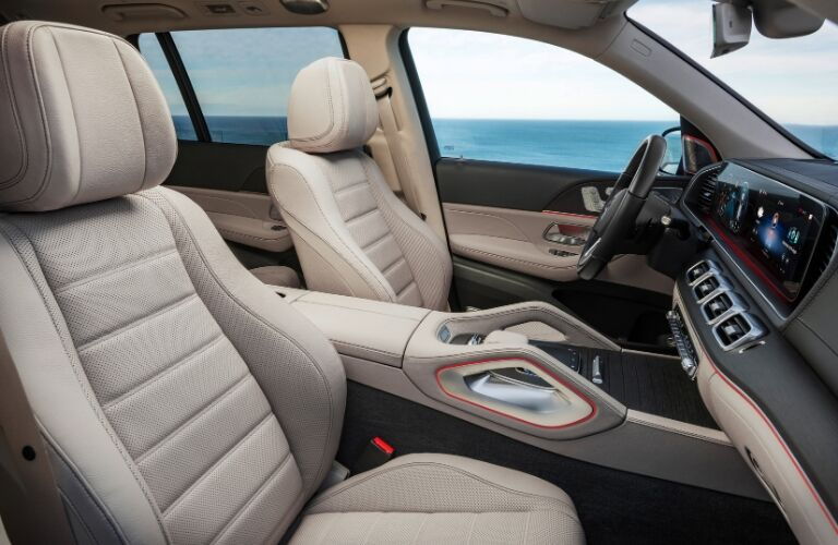 Front seating in 2020 Mercedes-Benz GLS