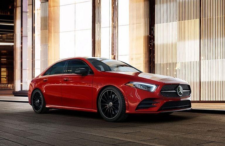 2020 Mercedes-Benz A-Class sedan from exterior front passenger side