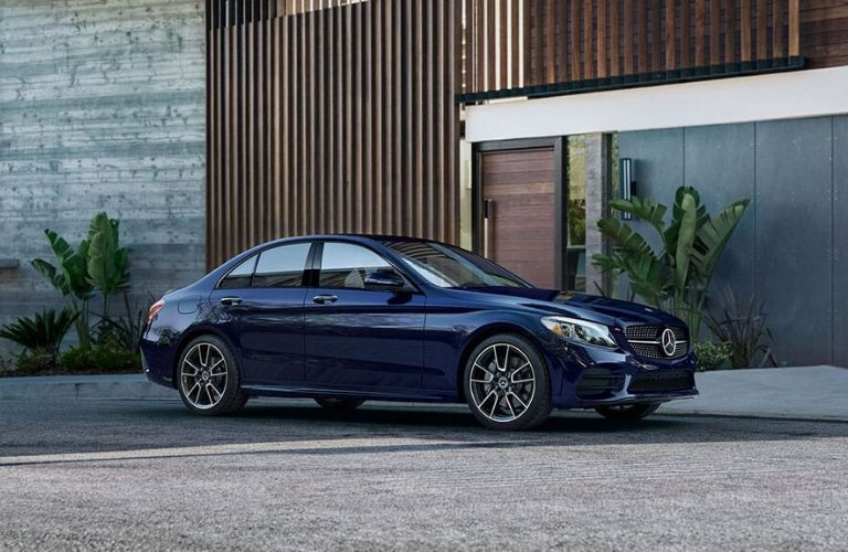 2020 Mercedes-Benz C-Class parked by building