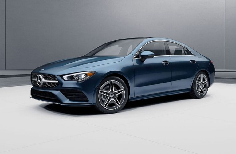 2020 Mercedes-Benz CLA 4 door coupe from exterior front drivers side