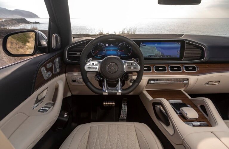 2021 Mercedes-AMG GLS interior driver's view