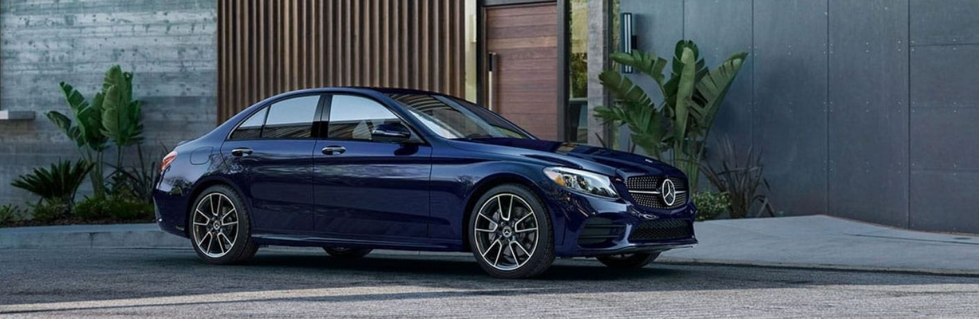 2021 Mercedes-Benz C-Class parked outside house