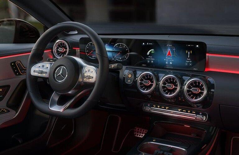 Front dash in 2021 Mercedes-Benz CLA