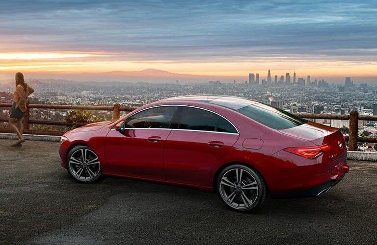2021 Mercedes-Benz CLA overlooking city