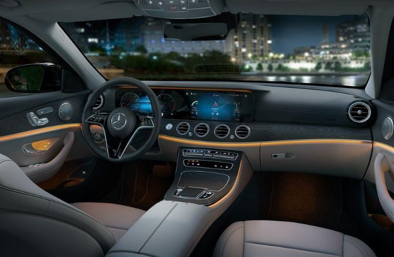 Interior front dashboard of the 2021 Mercedes-Benz E-Class