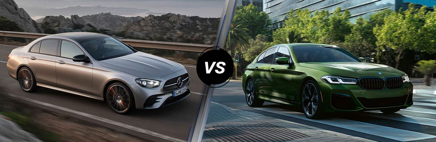 2021 Mercedes-Benz E-Class Sedan vs. 2021 BMW 5-Series