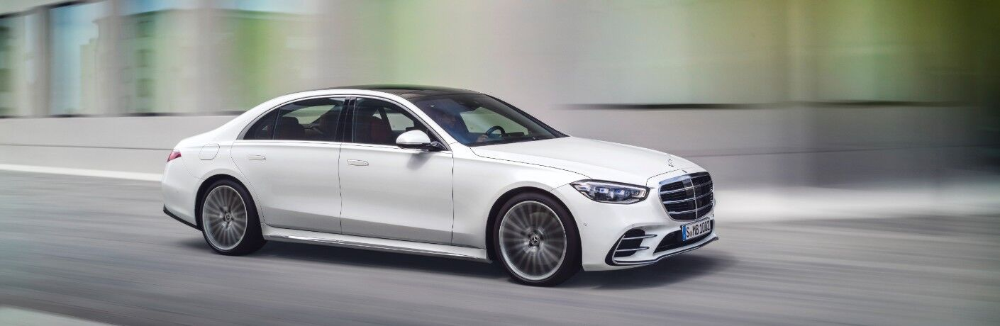 2021 Mercedes-Benz S-Class driving on road