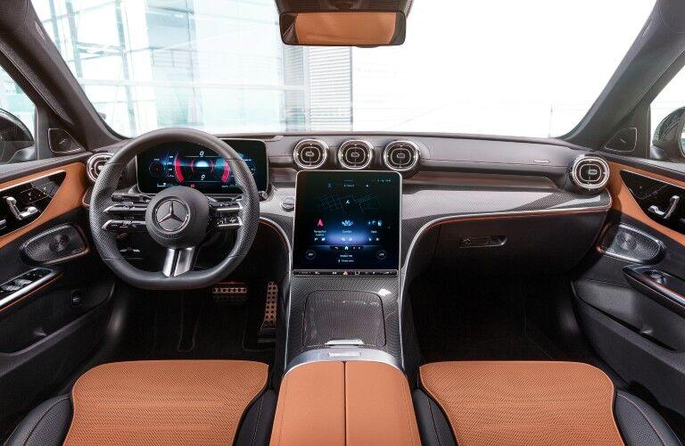 2022 Mercedes-Benz C-Class front dash