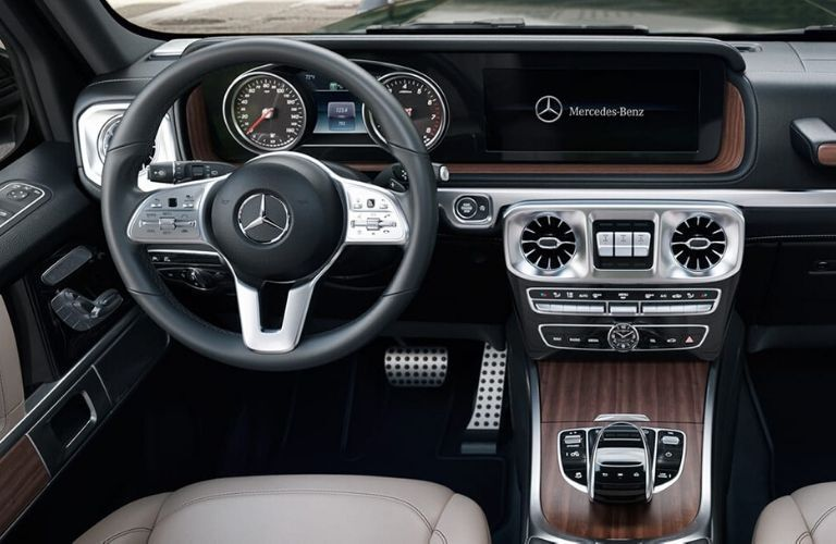 Interior front dash of the 2020 Mercedes-Benz G-Class