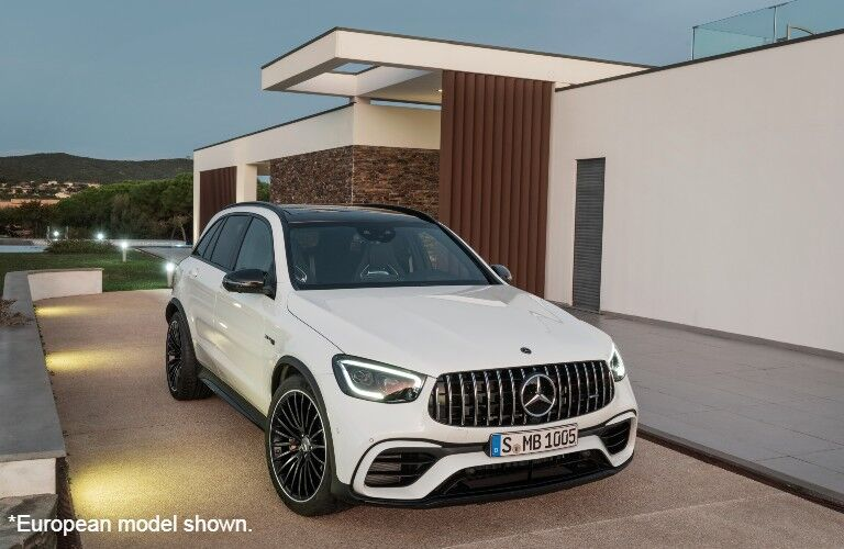European Model of 2022 Mercedes-AMG® GLC 63 S SUV by neat building