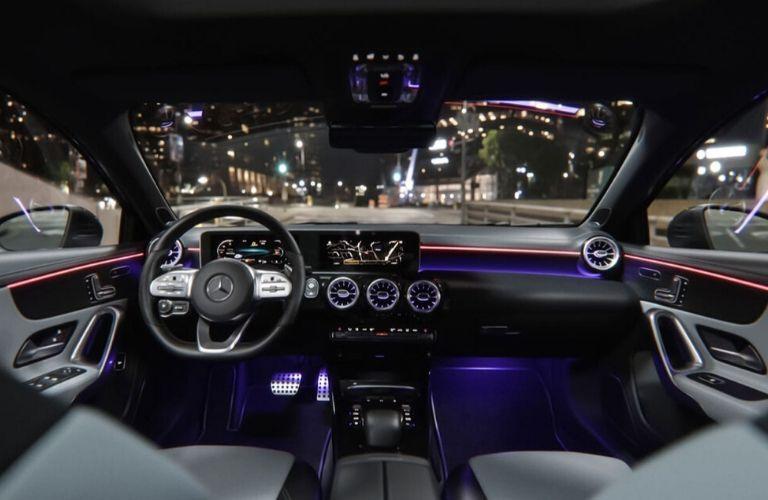 Interior driver cockpit of 2020 Mercedes-Benz A-Class