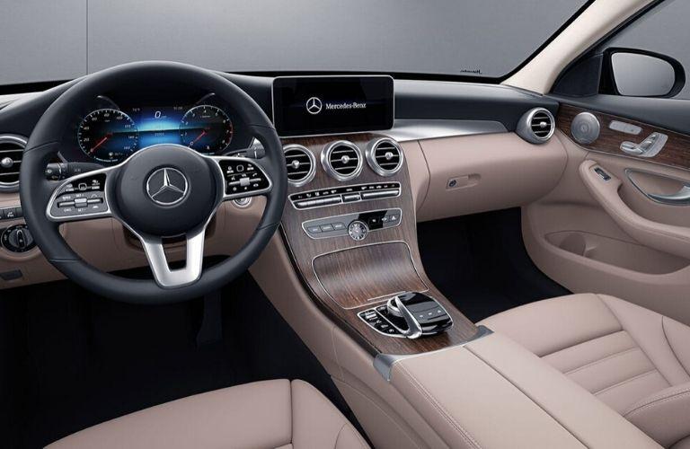 Interior front dash of 2020 Mercedes-Benz C-Class