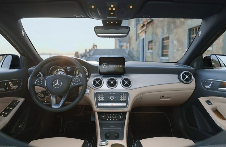Interior front dash of 2020 Mercedes-Benz GLA