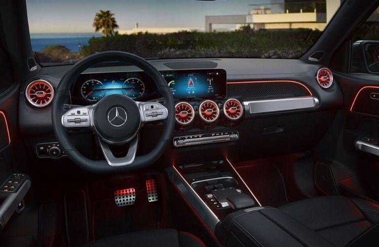 Interior front dash of 2020 Mercedes-Benz GLB