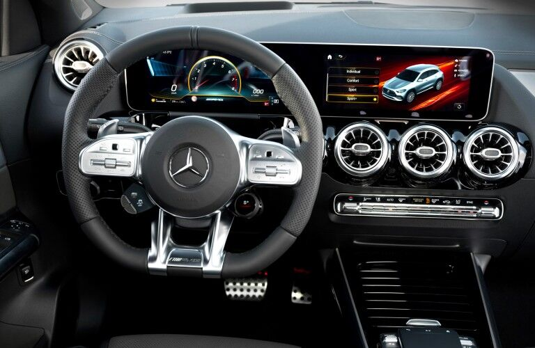 Interior front dash of 2021 Mercedes-Benz GLA