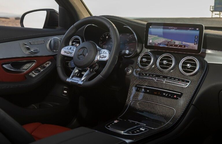 Interior front dash of 2021 Mercedes-Benz GLC