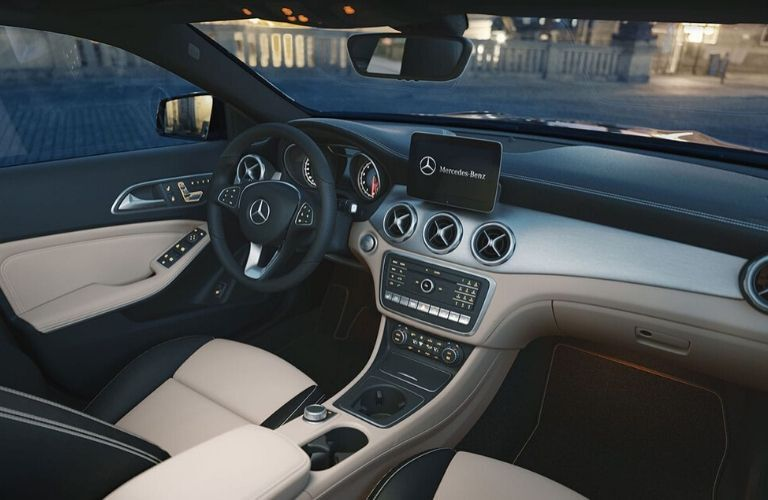 Interior front seat and dash of 2020 Mercedes-Benz GLA