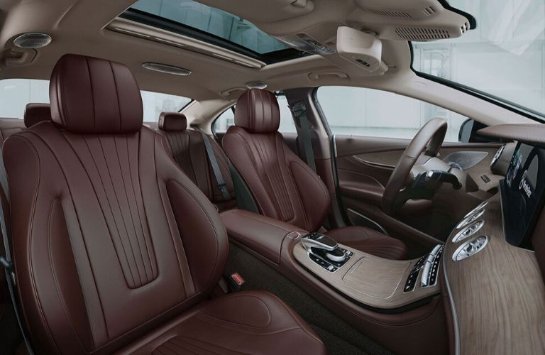 Interior front seats of 2020 Mercedes-Benz CLS