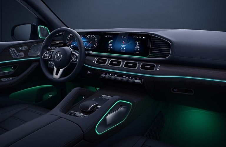Interior of 2020 Mercedes-Benz GLE