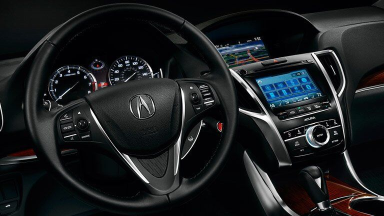 Pre-Owned Acura TLX steering wheel and display