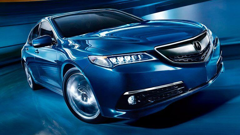 Pre-Owned Acura TLX blue front