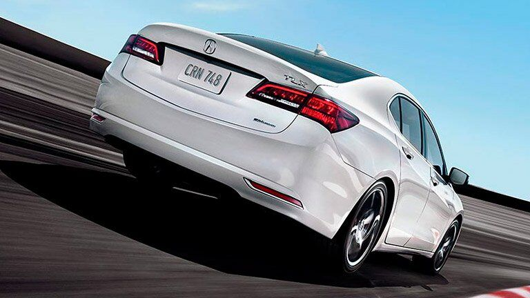 Pre-Owned Acura TLX white back