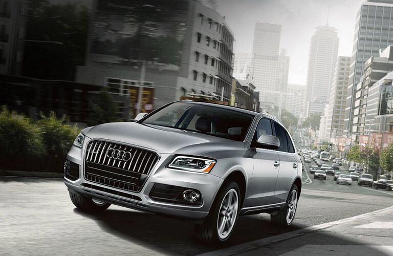 Audi Q5 Exterior View in Silver