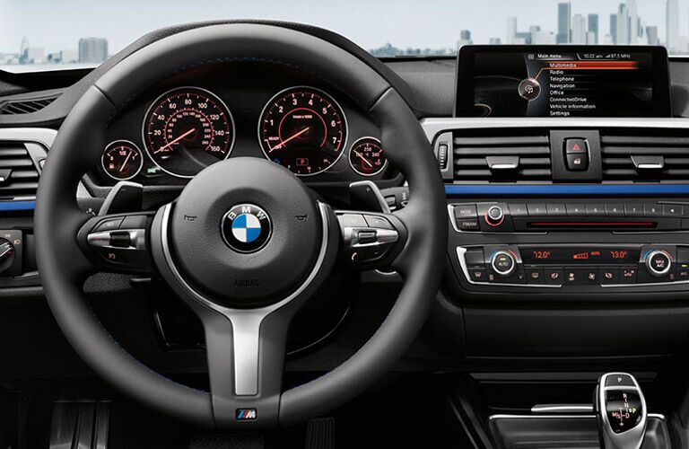 Pre-Owned BMW 3 Series Interior View in Black
