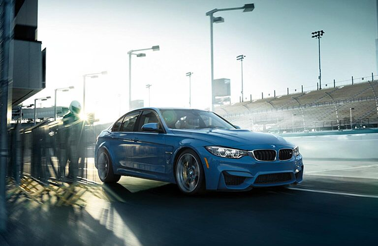 BMW M Series Exterior View in Blue