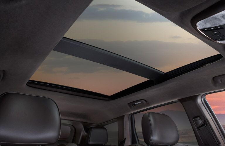 View of Moonroof in Jeep Grand Cherokee