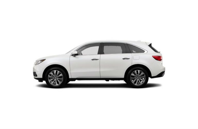 White Side View Exterior Acura MDX SUV