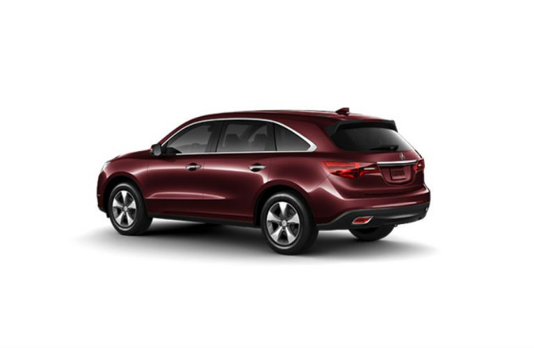 Burgundy Acura MDX Exterior View