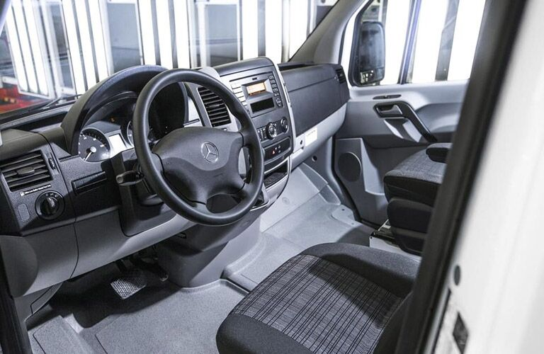 Front interior of 2017 Mercedes-Benz Sprinter Crew Van