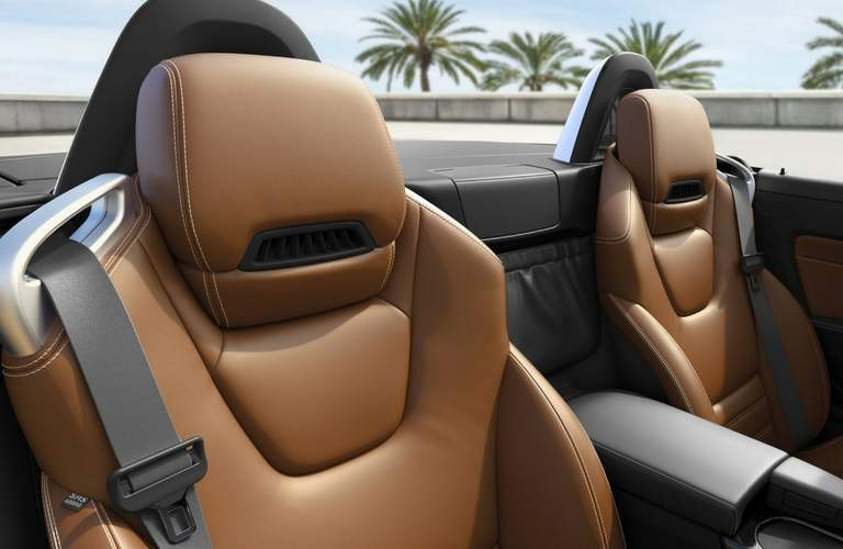 Leather sport seating of 2018 Mercedes-Benz SLC Roadster