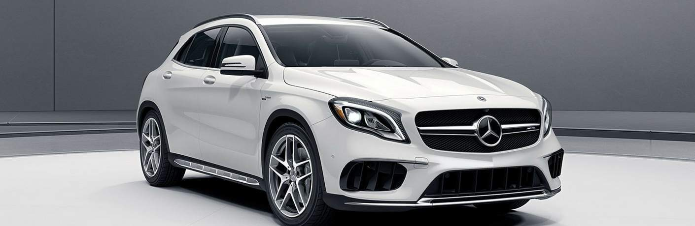 2018 Mercedes-AMG® GLA 45 SUV in Cirrus White in show room