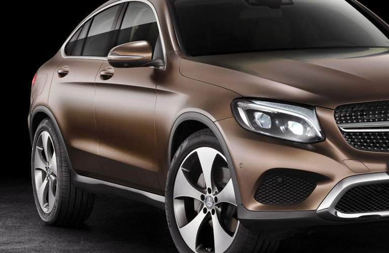 View of 2018 Mercedes-Benz GLC Coupe with emphasis on wheels