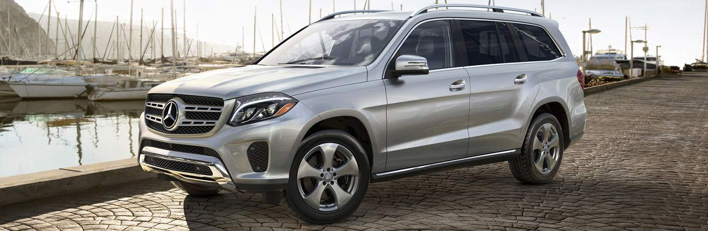 2018 Mercedes-Benz GLS SUV dockside by some sailboats