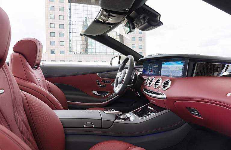 2018 Mercedes-Benz S-Class Cabriolet interior view from side.