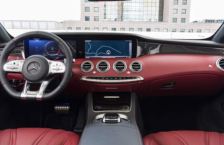 2018 Mercedes-Benz S-Class Cabriolet interior view of dash.