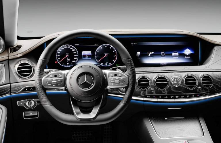 2018 S-Class new dashboard display