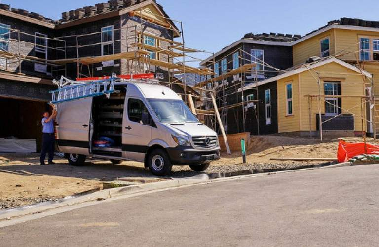 2017 Mercedes-Benz Sprinter Cargo Van on the job site