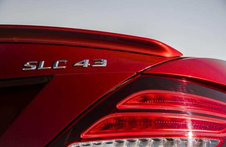SCL 43 badging of 2018 Mercedes-AMG SLC 43 Roadste